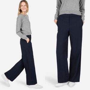 Everlane The Slouchy Wide Leg Wool Career Pants 0